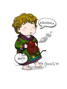 Chibi Bilbo | Bilbo & Smaug  so adorable !!