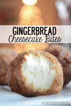 The perfect holiday freezer dessert. This Gingerbread Cheesecake Bites Recipe is just DELIGHTFUL! Perfect hostess idea for Christmas time.