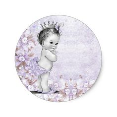 Make your own style with this Vintage Lavender Purple Baby Shower Stickers. Just add your photos and words to this design. Baby Shower Labels, Baby Shower Party Favors, Baby Shower Parties, Baby Shower Themes, Shower Ideas, Baby Shower Purple, Unique Baby Shower, Purple Baby, Baby Stickers