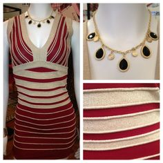 maroon and gold dress $66.00