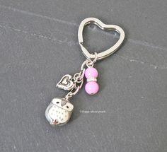 Schlüsselanhänger - Schlüsselanhänger Eule - ein Designerstück von Happy-about-pearls bei DaWanda