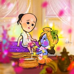 """Another piece for this beautiful bond of Krishna and Sudama🥺 ❤️🌷 .Krishna says """"Though I am in the body, I am not this body. Krishna Statue, Radha Krishna Love, Krishna Radha, Hanuman, Radhe Krishna Wallpapers, Lord Krishna Wallpapers, Little Krishna, Cute Krishna, Krishna Drawing"""