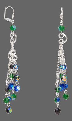 Jewelry Design - Earrings with Celestial Crystal® Beads and Silver-Plated Brass Links - Fire Mountain Gems and Beads