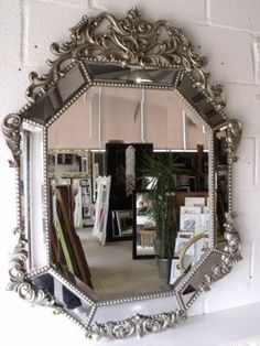 4Ft X 3Ft 122 X 91cm Large Rococo Silver Antique Ornate Decorative Wall Mirror | eBay