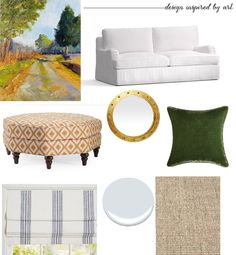 Designing a room with art as the inspiration piece