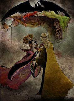Zothique, el último continente, Clark Ashton Smith: El camino del exceso. Ilustración de Andrea Beré para Fabulantes - http://www.fabulantes.com/2014/01/zothique-el-ultimo-continente-clark-ashton-smith/