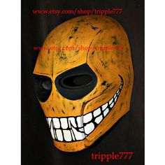 Army of two mask, Airsoft paintball mask, Halloween mask, Halloween costume & Cosplay mask, BB gun Goggle S2 yellow smiley mask MA05