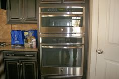 GE oven with Advantium microwave oven combo over
