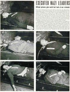 Executed Nazis For the whole story, check out http://hankeringforhistory.com/2012/10/17/hanged-to-death/#