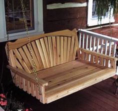 fanback porch bed swing by porchswing.com