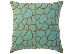 Colorful Designer Pillows: Decorating  Home & Garden Television Orange & aqua, interesting mix.