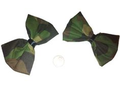 Camouflage Hair Bows Camo Accessories Camouflage by bowsngifts, $5.50