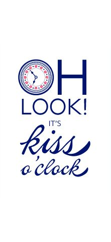 Kiss o´clock #tagdeskusses #kissingday