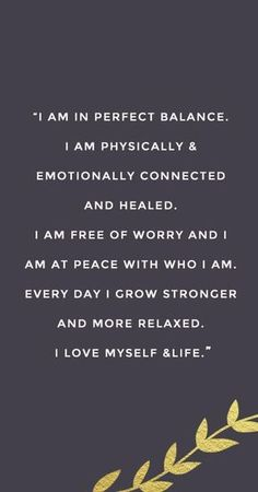 a great affirmation to say on a daily basis for your self care | self love practice.