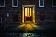 """'After Hours in Hamburg' is an ongoing series by photographer Mark Broyer, shot at night in the German city between 2016 and 2017.  """"Trying to find beauty in the ordinary.""""  More photography inspiration via Behance"""