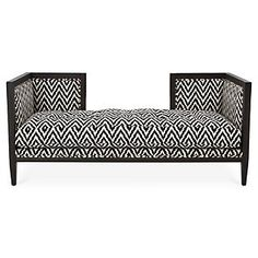 """Dixon 68"""" Bench, Gingham 