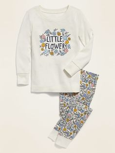 """Little Flower"" Pajama Set for Toddler Girls & Baby 