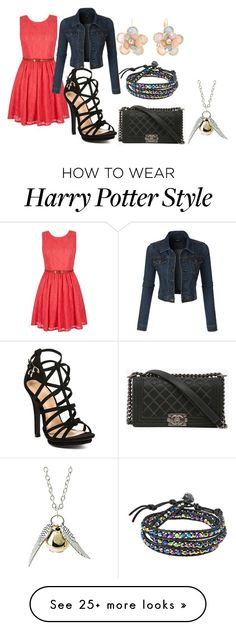 """""""Untitled #554"""" by fashiongirl2929 on Polyvore featuring Yumi, LE3NO, Chanel, Mixit and AeraVida"""