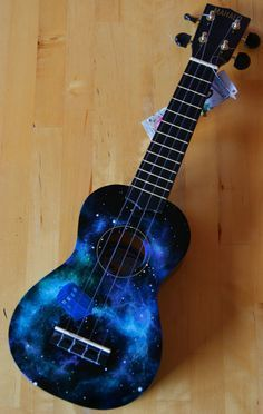 Hand-painted Doctor Who themed ukulele. Beginner's easy to play Mahalo soprano ukulele with nylon strings. This is a brand new item which has been handpainted … Ukulele Art, Cool Ukulele, Guitar Art, Cool Guitar, Guitar Crafts, Painted Ukulele, Painted Guitars, Zootopia Judy Hopps, Ukulele Design