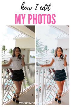 How I edit my photos for my Instagram profile.