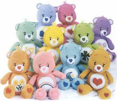 Care Bears Amigurumi - Free Crochet Pattern. Try to make them, they are so cute!
