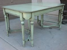 love the color with gray wax. This website has great before and afters and sells an ebook on painting furniture.