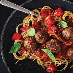 Spaghetti & Meatballs: A healthier alternative to classic spaghetti & meatballs.