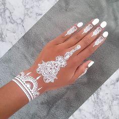 white henna tattoos - Pesquisa Google