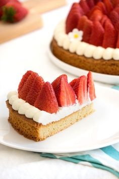 Strawberry tart easy and fast - Patisserie - Dessert Easy Cheesecake Recipes, Easy Smoothie Recipes, Cupcake Recipes, Snack Recipes, Dessert Recipes, Healthy Smoothie, Coconut Recipes, Strawberry Recipes, Strawberry Tart
