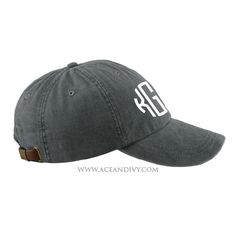 Monogrammed Baseball Hat - Charcoal – Ace & Ivy