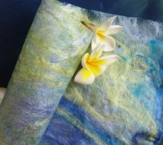 silk paper - great design with the flowers