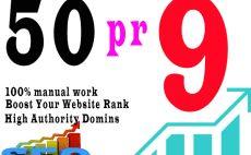 create 40,highPR,manual,backlinks for you