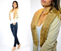 vanilla CASHMERE sweater CARDIGAN w/ genuine by discoleafvintage, $88.00