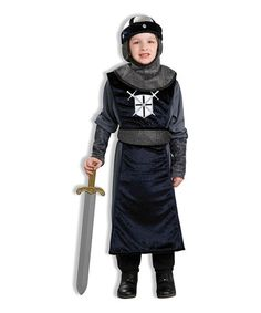 Loving this Black Roundtable Knight Dress-Up Outfit - Boys on #zulily! #zulilyfinds