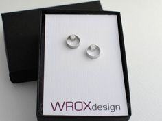Faunia Earrings - Small Sterling Silver Circle Dot Studs