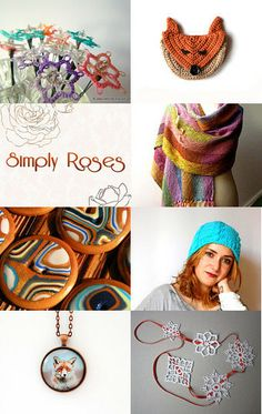 Simply Roses... with foxes, pastels and doilies by Ale on Etsy--Pinned with TreasuryPin.com