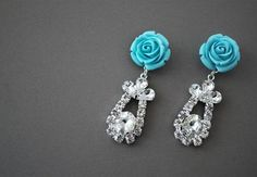 ** DIY Prada Rose Earrings