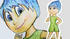 Como desenhar a Alegria de Divertida Mente