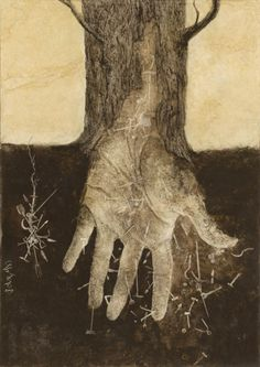 """""""Semillas de Futuro"""" by Santiago Caruso [about the immigrants in Argentina] Caras y Caretas mag, 2009 / Ink & scratch over plastered paper / 2009 Illustrations, Illustration Art, Science Fiction, Life Symbol, Hand Art, Tree Art, Tree Of Life, Les Oeuvres, Printmaking"""