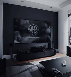 The perfect living room. Interior Design Living Room, Living Room Designs, Men's Living Rooms, Manly Living Room, Cozy Living, Gaming Room Setup, Home Room Design, Media Room Design, Design Homes