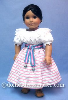 Josefina ~ American Girl Doll Sewing Doll Clothes, American Doll Clothes, Girl Doll Clothes, Doll Clothes Patterns, Clothing Patterns, Girl Dolls, Ag Dolls, Doll Patterns, Dress Patterns