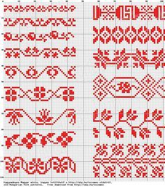 Crochet Borders, Crochet Stitches Patterns, Crochet Chart, Loom Patterns, Embroidery Patterns, Cross Stitch Patterns, Knitting Patterns, Tambour Embroidery, Cross Stitch Embroidery