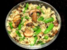 sugar snap pea's and mushroom wild rice side dish looks very good!