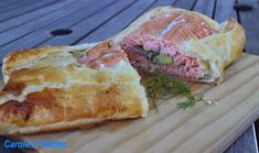 Salmon Wellington – deserving of a reprise Salmon Wellington Recipe, Nigel Slater, Puff Pastry Sheets, Dinner Party Recipes, White Wine Vinegar, Egg Wash, Fresh Dill, Salmon Fillets, Fish And Seafood