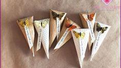 Милые бумажные кулечки для цветочных лепестков и конфетти