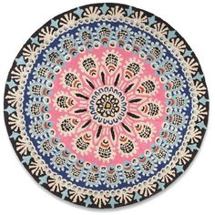 I Love Retro Nomadic Circular Rug 01 ($265) ❤ liked on Polyvore featuring home, rugs, wool area rugs and wool rugs