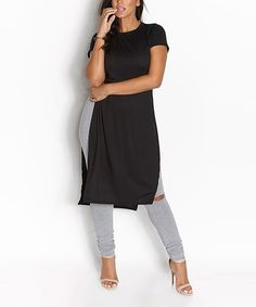 85e53a84138 Rebdolls Black Side-Slit Tunic - Plus Too. Black SidePlus Size FashionLong  ShirtsMidi SkirtTunicsDustersRobesFull ...