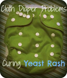 How to get rid of a yeast diaper rash when cloth diapering.