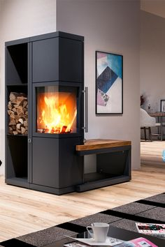 Stove with bench At first glance, the Livera fireplace looks massive and unapproachable. But we can assure you that Magnolia Fixer Upper, Built In Ovens, Modern Fireplace, My Dream Home, Future House, Stove, Sweet Home, New Homes, Home Appliances