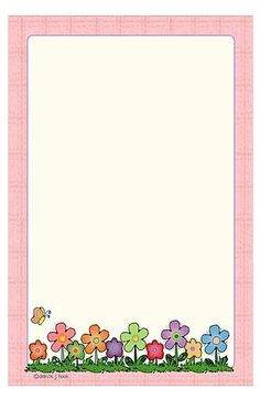 """""""Floral illustrated"""": """"Little flowers in spring"""", designed by Tita K @ Picasa Web Album Printable Border, Free Printable Stationery, Boarders And Frames, Page Borders, Frame Background, Borders For Paper, Paper Frames, Note Paper, Writing Paper"""